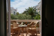 Room with terrace of the hotel medium romàntic